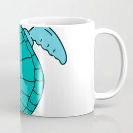Sea Turtle Swimming Drawing Coffee Mug