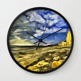 Birling Gap And Seven Sisters Van Goth Wall Clock