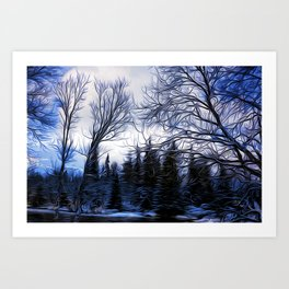 Winter Trees In Sweden Art Print