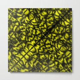 Fluttering symmetry with a crisp pattern of honey veins and splashes of marble craquelure. Metal Print