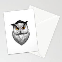 bearded owl Stationery Cards