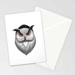 bearded owl Stationery Cards
