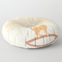 Mid Mod Cat Floor Pillow