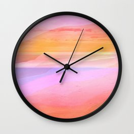 Seascape in Shades of Peach Purple and Pink Wall Clock