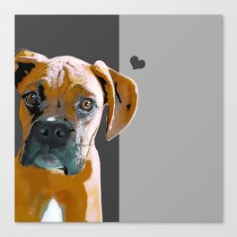 Boxer lovers Canvas Print