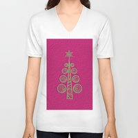 christmas tree V-neck T-shirts featuring Christmas Tree by Mr and Mrs Quirynen