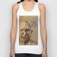 pablo picasso Tank Tops featuring 50 Artists: Pablo Picasso by Chad Beroth