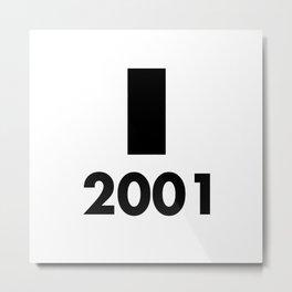 2001: A Minimalist Space Odyssey Metal Print