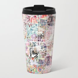 Des Moines map Travel Mug