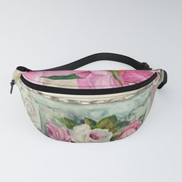 Hand Painted China Tea Cup and Roses Fanny Pack