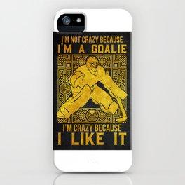 Hockey Goalie Goalkeeper Gift iPhone Case