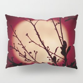 Red Red Moon Wine Pillow Sham