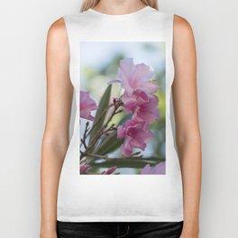 pink oleander in the garden Biker Tank