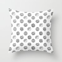 polka dot Throw Pillows featuring Polka Dot by AndaLouz