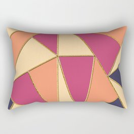 Colored Triangles Rectangular Pillow