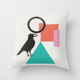 constructivist bird Throw Pillow