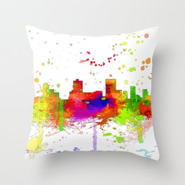 Anchorage, Alaska Skyline - Line & Ink 3 Throw Pillow