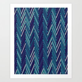 Abstract Chevron II Art Print
