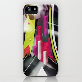 Triangles Track iPhone Case