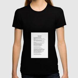 Psalm 46 #minimalism  T-shirt