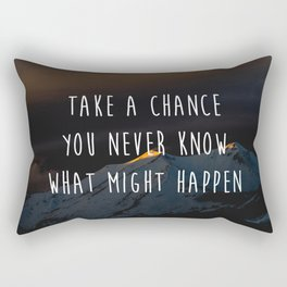 Take A Chance Motivational Quote Rectangular Pillow