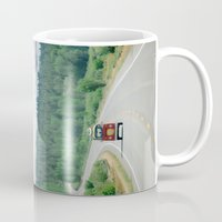 explore Mugs featuring EXPLORE  by Leslee Mitchell
