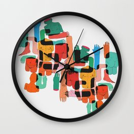 Color Body Patrs Wall Clock