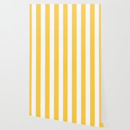 Google Chrome yellow - solid color - white vertical lines pattern Wallpaper