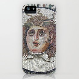 Mosaique Grecque Medusa iPhone Case
