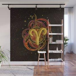 Aries Zodiac Sign Fire element Wall Mural