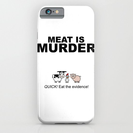MEAT IS (tasty) MURDER iPhone & iPod Case
