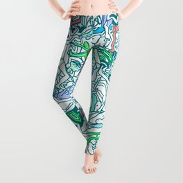 Kamasutra LOVE - Sea Blue Green Turquoise Min Leggings