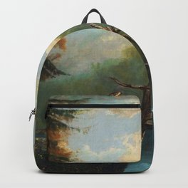 Old Man in the Mountain, White Mountains, New Hampshire landscape painting by Thomas Hill Backpack