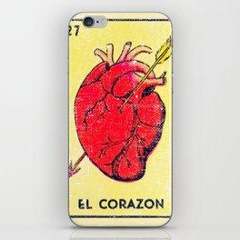 El Corazon Mexican Loteria Bingo Card iPhone Skin