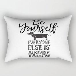 Be Yourself Daschund Rectangular Pillow