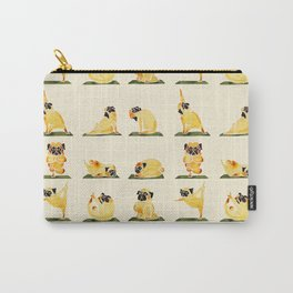 Pug Yoga Watercolor Carry-All Pouch