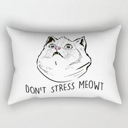 Don't Stress Meowt Rectangular Pillow