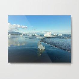 Jokulsarlon Beach II, Iceland Metal Print