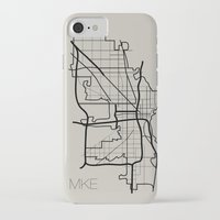 milwaukee iPhone & iPod Cases featuring Milwaukee by linnydrez