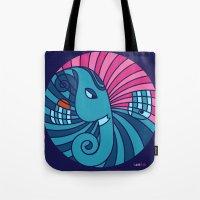 ganesha Tote Bags featuring Ganesha by Karthik