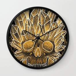 crystal skull Wall Clock