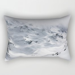 Snow mountain in Switzerland are Beautiful and breath taking Rectangular Pillow