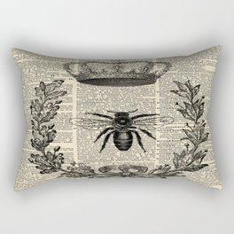 Paris french  garden farmhouse beekeeper honey bee queen Rectangular Pillow