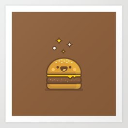 Golden Cheeseburger Art Print