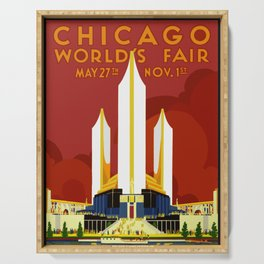1933 Chicago World's Fair Serving Tray