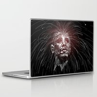 obama Laptop & iPad Skins featuring Obama Fireworks by Moshik Gulst