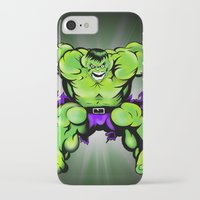 hulk iPhone & iPod Cases featuring Hulk by Liam Sweeney