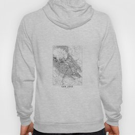 San Jose White Map Hoody