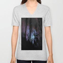 Black Trees Dark Space Unisex V-Neck
