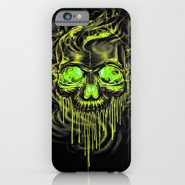 Glossy Yella Skeletons iPhone Case